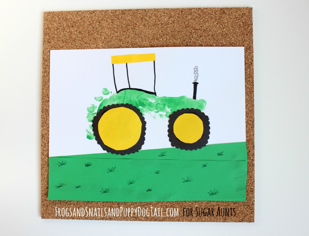 footprint tractor art