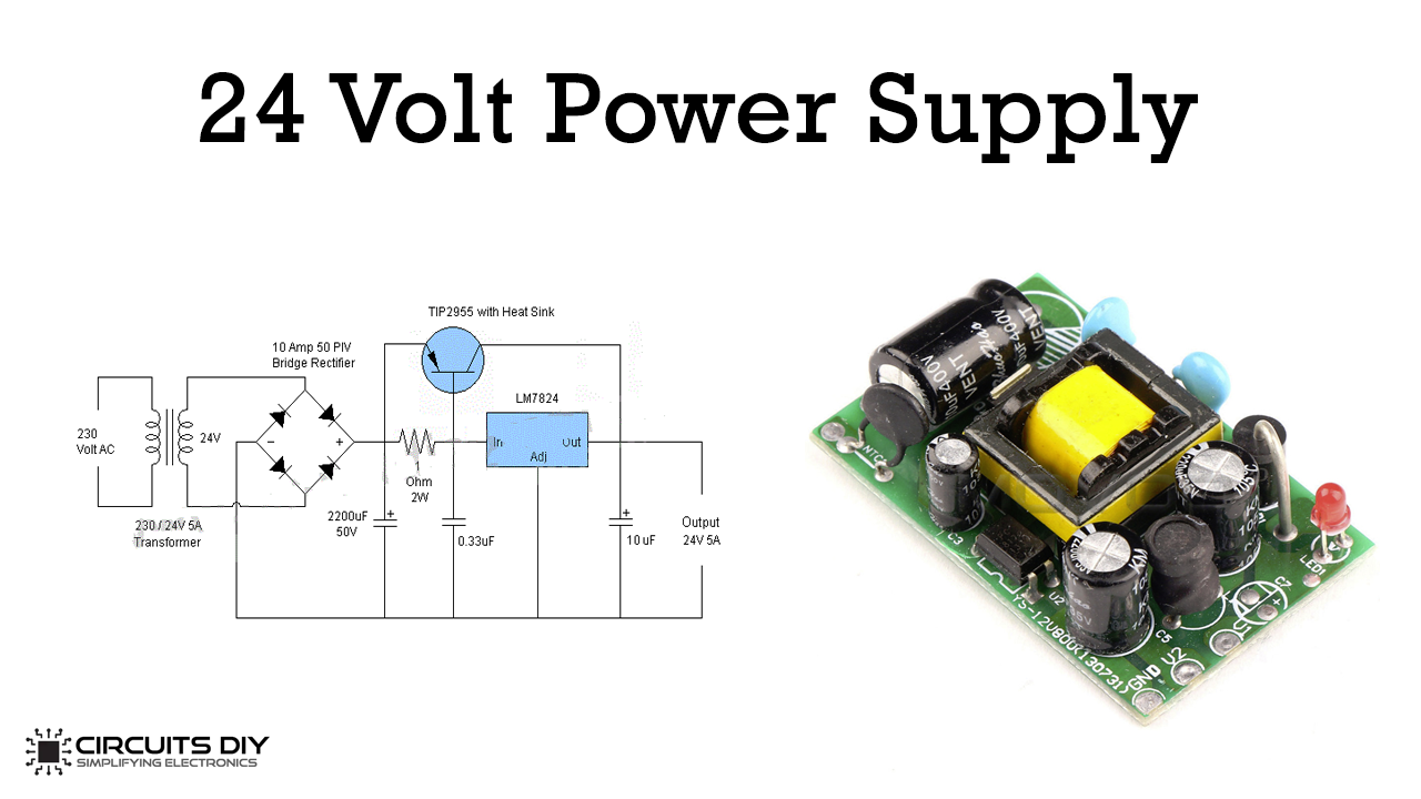 24 Volt 5 Ampere Power Supply Circuit