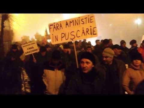 VIDEO Protest la Suceava, sâmbătă, 4 februarie 2017
