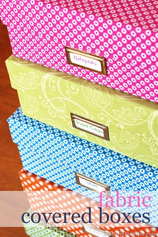 Fabric Covered Box Tutorial {InMyOwnStyle.com}