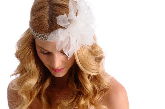 335 - EDEN Lux Headpiece -  bridal, comb, rhinestone, crystal, veil, brooch, wedding, tiara, head piece, flower