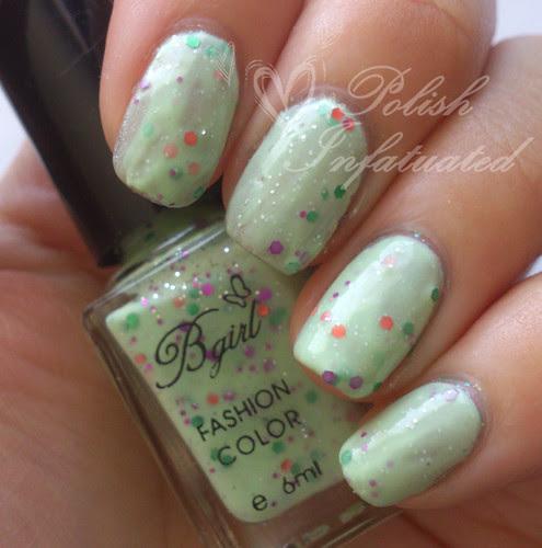bgirl green glitter