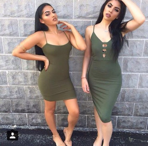 Khaki green bodycon dress size online walmart