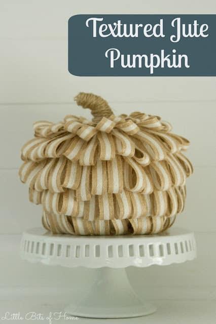 textured jute pumpkin