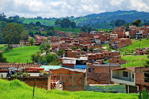 Town along Ruta de la Leche outside Medellin, Colombia