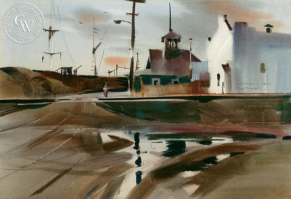 Rex Brandt - Mud Puddle, Alviso, 1969 - California art - fine art print for sale, giclee watercolor print - Californiawatercolor.com