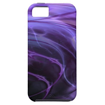 Swirls Purple iPhone 5 Cases