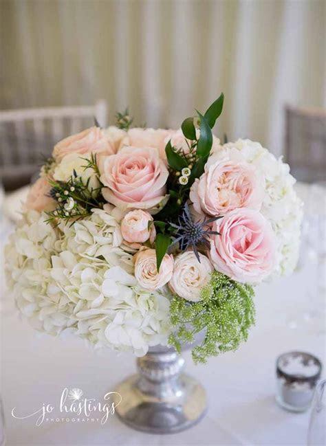 Elegant wedding at Heath House   Dusty Blue & Pink Flowers