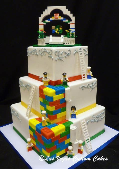 Lego Themed Wedding Cake by Las Vegas Custom Cakes