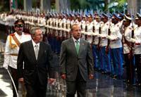 Raúl Castro y Felipe  Calderón en Cuba. Foto: Cubadebate
