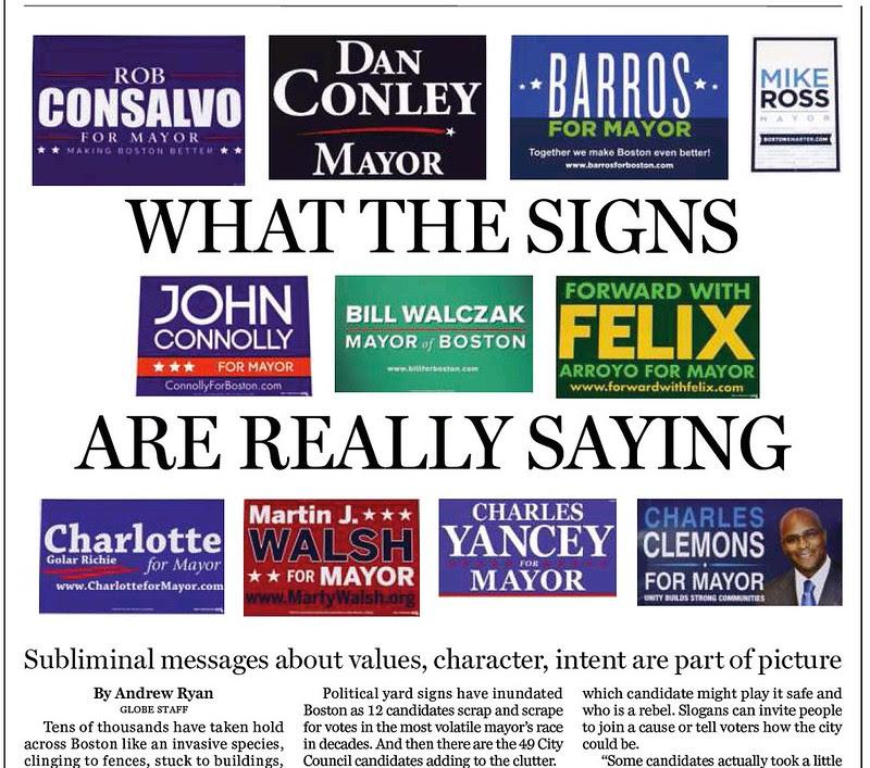 The Boston Globe ePaper Edition: Campaign Signs