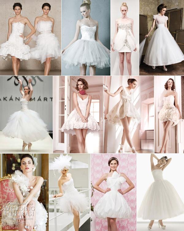 Short wedding gown Short wedding Dresses mini skirts knee length tea length