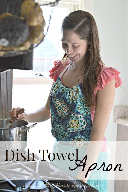 How to Make Dish Towel Apron via @LHLiving #saygdayparty