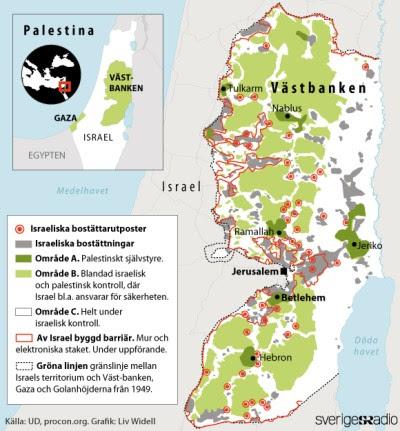 Karta över apartheid i Palestina
