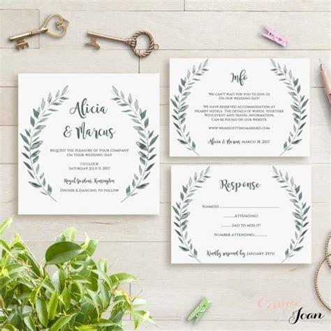 Wedding Invitation Template Rustic Printable Invitation