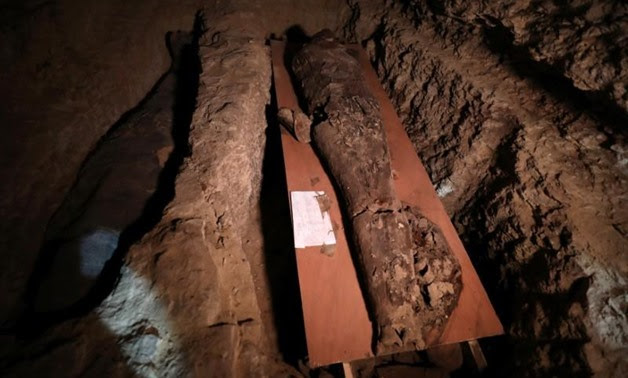 FILE - A number of mummies are seen inside the newly        discovered burial site near Egypt's Saqqara necropolis, in Giza        Egypt July 14, 2018. REUTERS/Mohamed Abd El Ghany