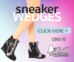 Shop AMIclubwear.com for great deals on fashionable Sneaker Wedges.
