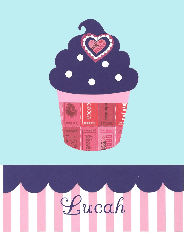 Cupcake Nursery Personalized Baby Hello Kitty by PeanutAndButtons