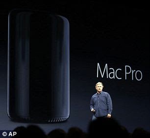 Phil Schiller, Apple's senior vice president of worldwide marketing, pictured, unveiled the latest Mac Pro  in San Francisco last year. It has 90,000 times more RAM than the original Macintosh