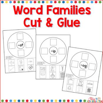 word families, cvc word work, circle maps