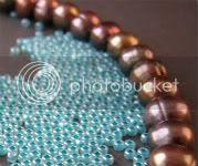 Chocolate Mint Beads
