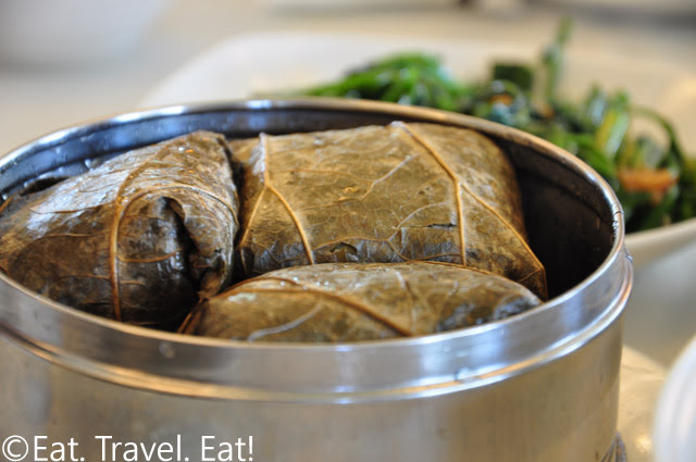 Seafood Sticky Rice in Lotus Leaf