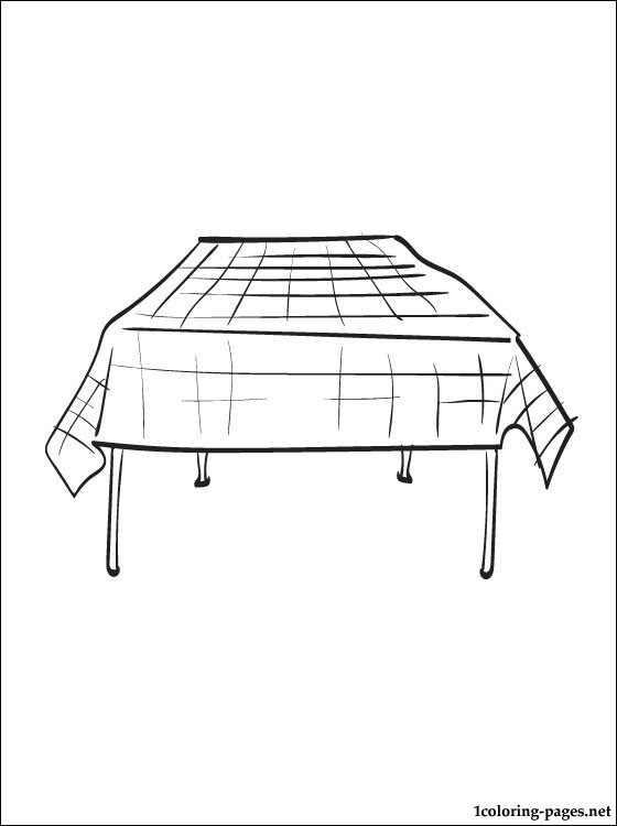 Download Tablecloth coloring page   Coloring pages