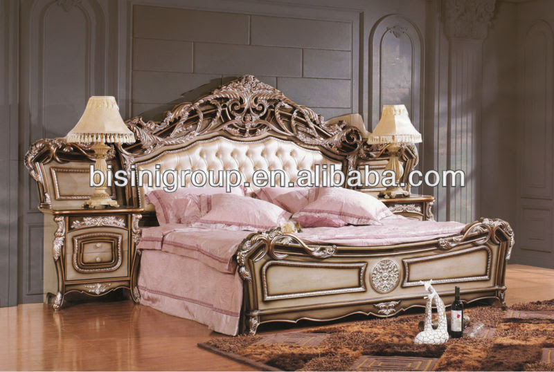 Bisini Royal Ornate Tufted Bed King Size Bed French Style BF11 ...