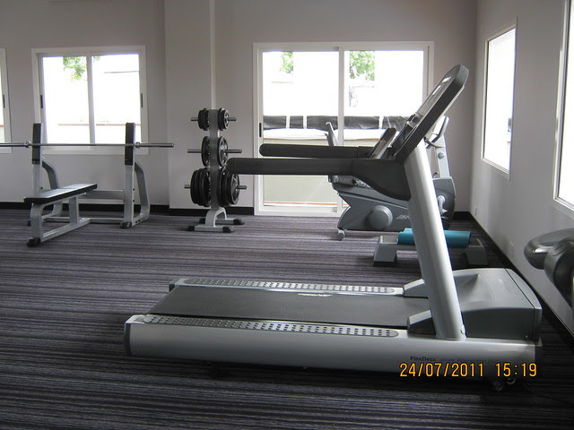 "Gym at Sobha Carnation - on the day of launch of ""Sobha Garnet - 3 BHK & 4 BHK Flats"" - off NIBM Road -  at Kondhwa - Pune"