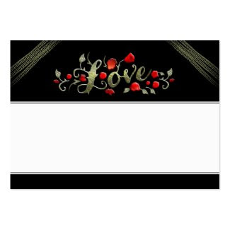 Wedding Seating Cards LOVE Red Roses BLANK