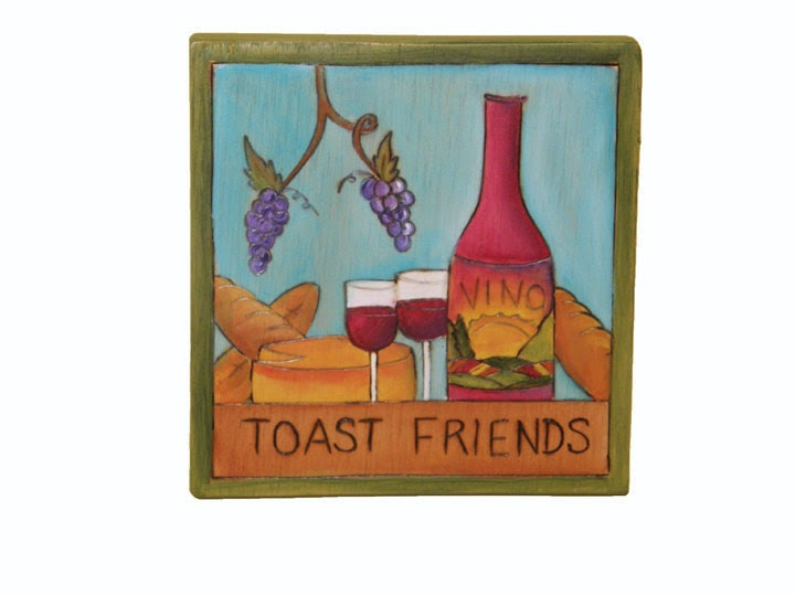 Toast Friends Wall Hanging/ Wedding/ Bride and Groom