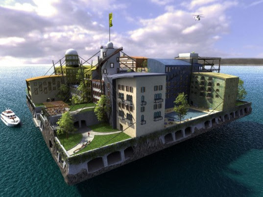 ocean living, Floating Islands International, islands, fake islands, Peter Thiel, sustainable design green design, seasteading institute, paypal