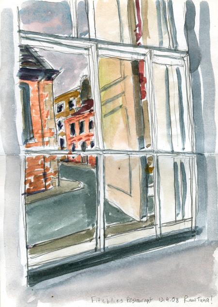 Fitzbillie's restaurant window