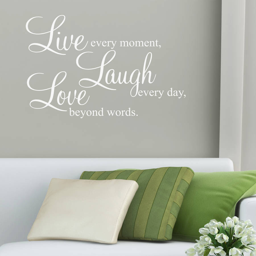 \u002639;live laugh love\u002639; wall stickers quotes by parkins interiors  notonthehighstreet.com