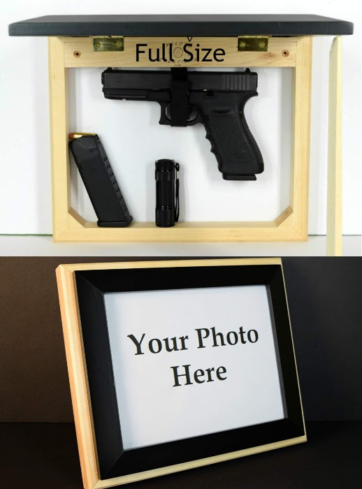 Wall Mount Concealment Frame For Your Gun Spy Goodies