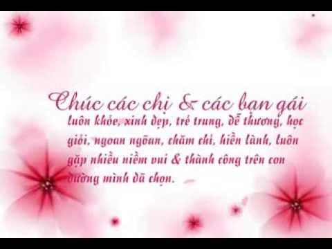 Những lời chúc ngày phụ nữ Việt Nam 20-10 ý nghĩa
