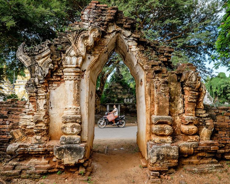 Stupa entrance at Palaik
