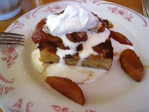 French Toast with Caramelised Apples at Rose's Cafe