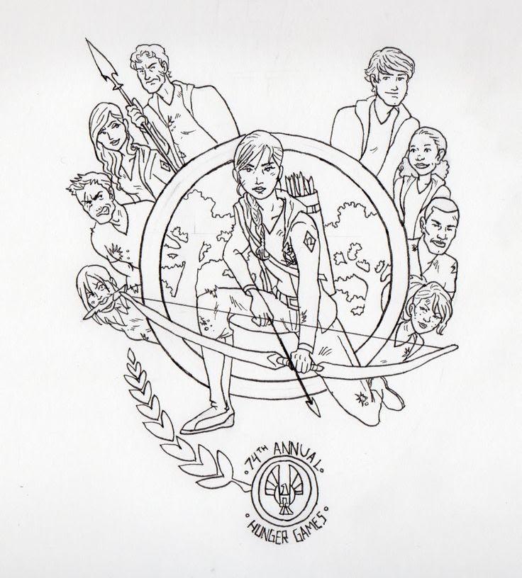 Mockingjay Pin Drawing at GetDrawings | Free download