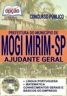 Apostila concurso Prefeitura de Mogi Mirim SP 2016  AJUDANTE GERAL