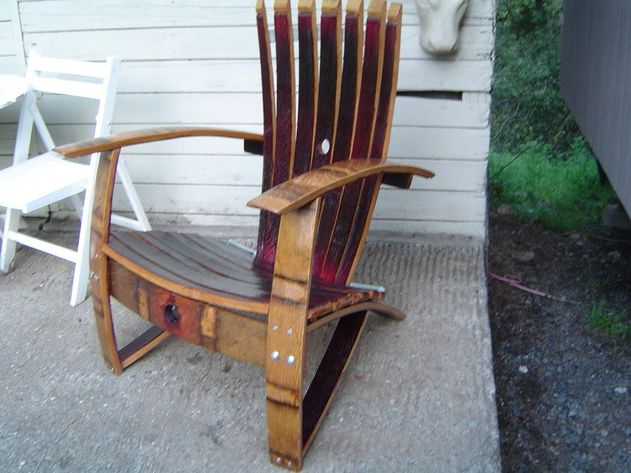 Adirondack Chair Barrel Staves Design Changes By