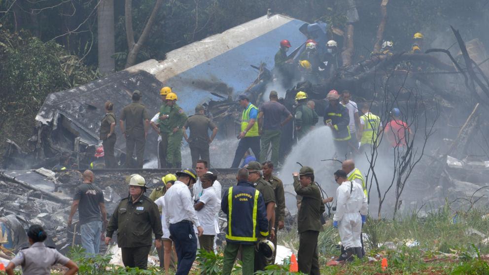 Resultado de imagen para Un avión con 104 pasajeros se estrella en La Habana