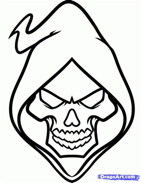 draw  grim reaper face step  step tattoos pop