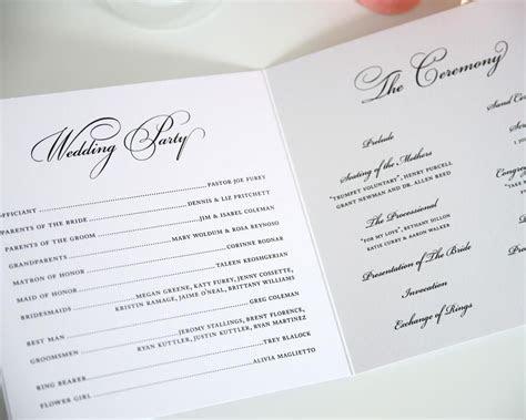 Sample Wedding Program For Emcee   All things bright