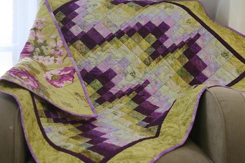 bargello baby quilt