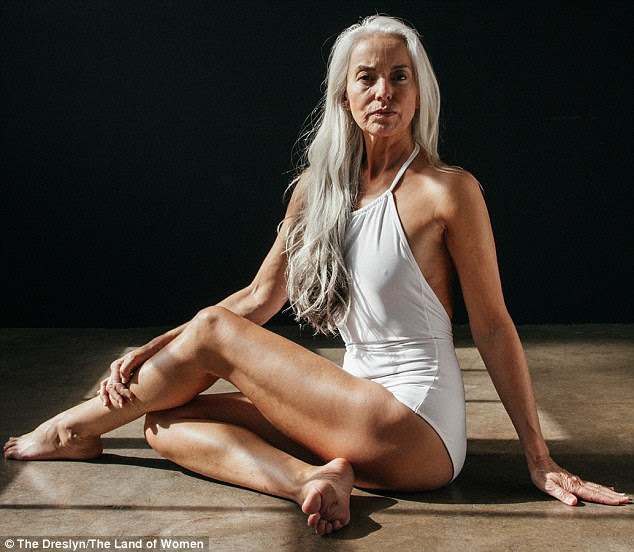 Upright: The model, who lives in Malibu, pictured, says she will continue modelling for the rest of her life