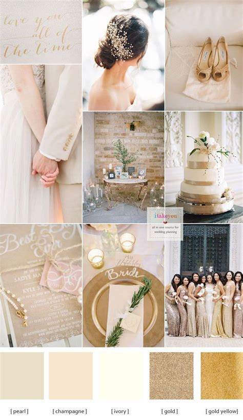 Champagne wedding colors schemes { Champagne   pearl