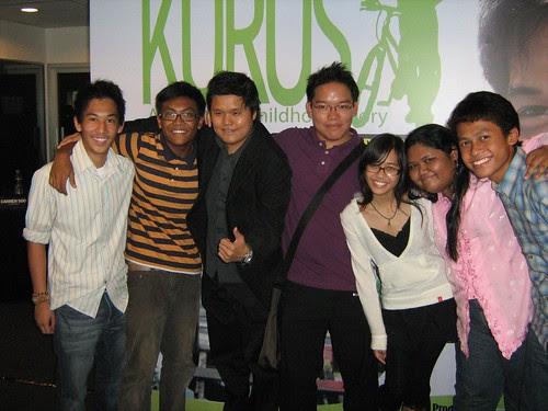 Me and co-producer Aron, with teenage cast of KURUS