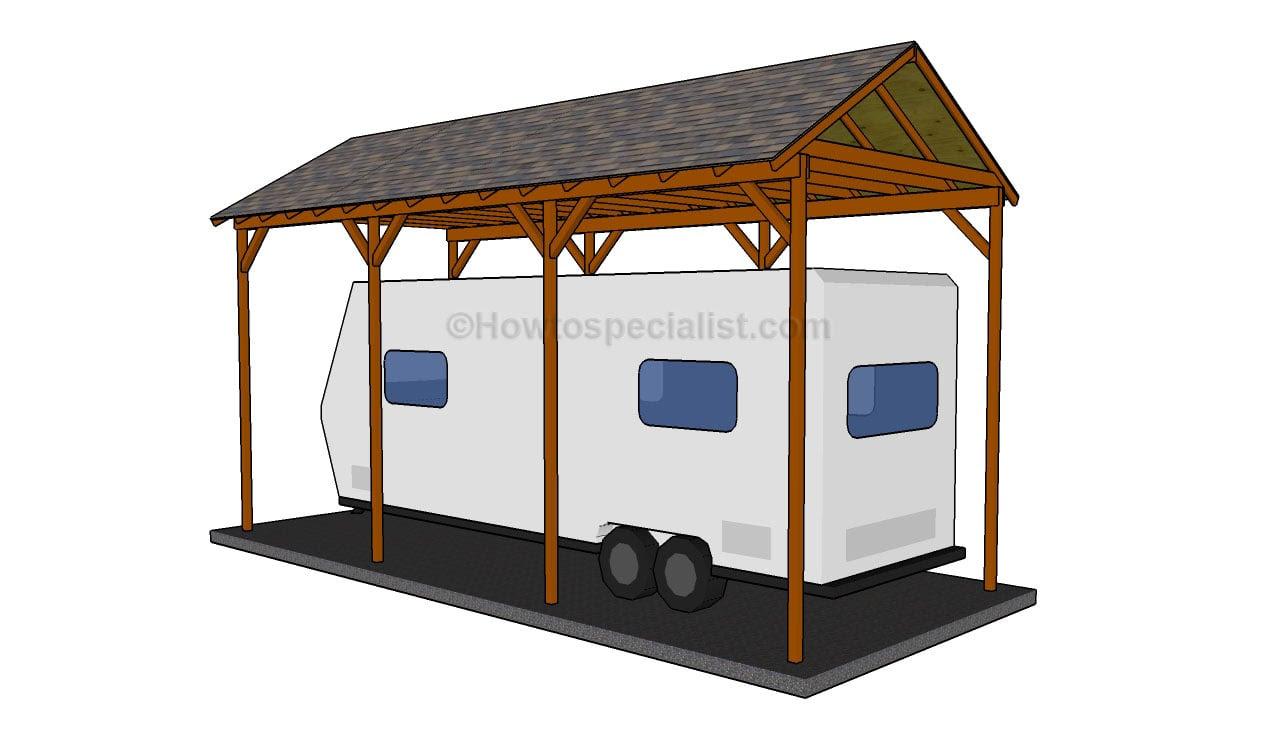 Wood Rv Carports PDF Woodworking