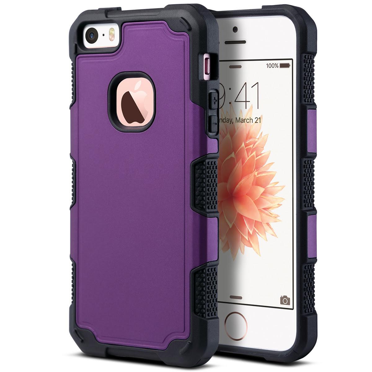 For iPhone 5 5S SE Hybrid Rugged Shockproof Hard ...